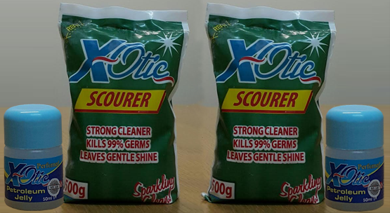 xotic petroleum jelly & scourer
